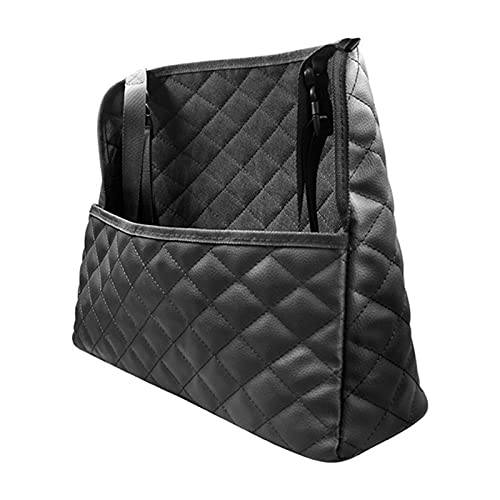 LYB Soporte De Bolsillo De Bolsillo De Coche Entre Organizador De Automóviles Asiento Trasero Bolsa De Almacenamiento Grande Capacidad Negro Impermeable Handbag Net Bag (Color : Black)