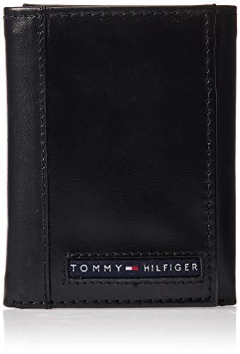 Tommy Hilfiger Herren Brieftasche Trifold Sleeve Slim mit Ausweisfenster und Kreditkartenfach - Schwarz - Einheitsgröße