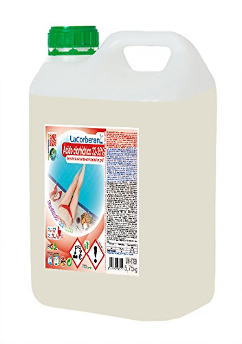 LA CORBERANA Ácido Clorhídrico, Transparente, 5 l, 0125050
