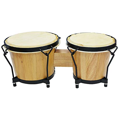 A-Star 7 inch & 8 inch Bongo Drums - Solid Wood with Natural Skin Heads