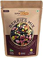 Super Healthy Berries Mix - Dried Mixed Berries | Organic Berry Mix | 7+ Varieties like Cranberries, Blueberries,...