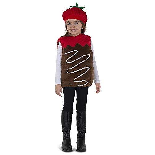 Dress Up America Chocolate Dipped Strawberry Costume Disfraces Unisex niños