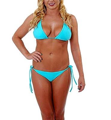 Mpitude Free Size Aqua Bikini Set for Woman Lingerie Bra Panty String Bikini Swim Suit Women Bikini Beachwear Sexy Thongs Honeymoon Bikini Set