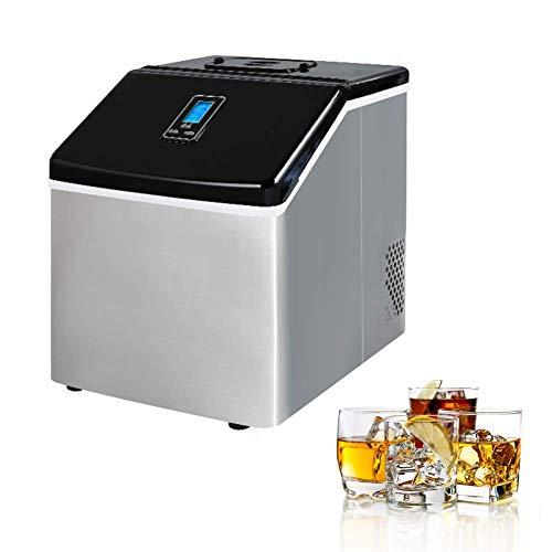 unknow Edelstahl Eismaschine Arbeitsplatte Eismaschine Home Küche Elektrische Eiswürfelmaschine, kühler Sommer beginnt Hier