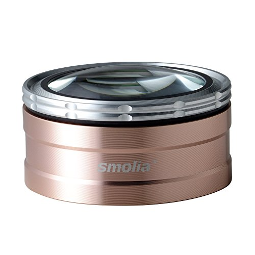 3R 充電式 LED付 デスクルーペ 卓上ルーペ[ LED 拡大鏡 smolia TZC ] 倍率調整可 スモリア ペーパーウエイト 3R-SMOLIA-TZC GD ゴールド