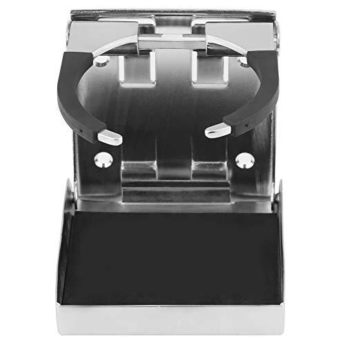Portavasos Marino, Porta Vasos de Bebida Plegable Ajustable de Acero Inoxidable Samfox para Camión Marino Rv
