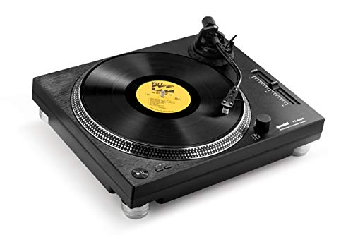 Gemini Sound TT-4000 Professional Direct-Drive DJ Turntable, High Torque, 3 Speeds Vinyl Record Player, Switchable Phono Preamp, Variable Pitch Control, Die-Cast Aluminum Platter, USB Audio Interface