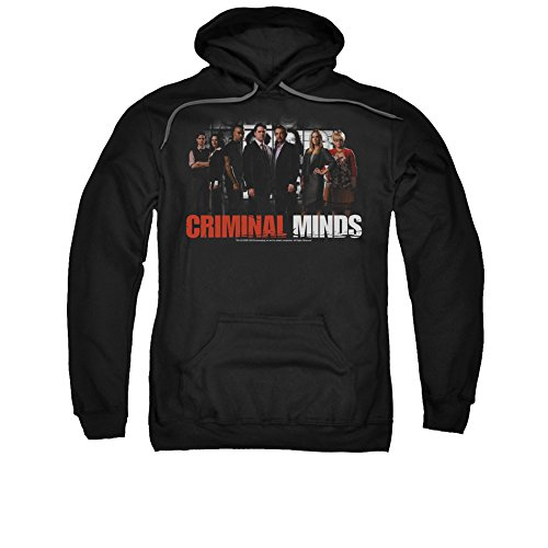 Criminal Minds TV Show CBS The Brain Trust Adult Pull-Over Hoodie Black