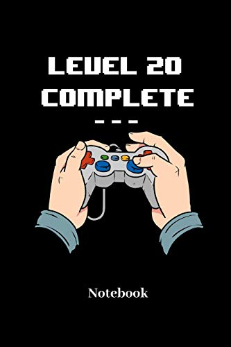 Level 20 Complete Notebook: Lined journal for video game, computer nerd, internet online geeks and gaming fans - paperback, diary gift for men, women and children