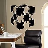 jiushizq Puzzle Cube Wand Vinyl Aufkleber Wohnkultur Wohnzimmer Schlafzimmer Kunstwand Removable...