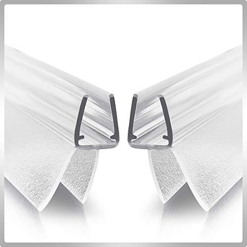 Werkler Junta de ducha (2 unidades de 80 cm) – Incluye instrucciones (idioma español no garantizado) – 6 mm, 7 mm, 8 mm puerta de cristal – Transparencia óptima, materiales y dimensiones