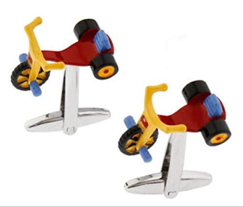 XKSWZD Manschettenknöpfe Herren Kinder Fahrrad Manschettenknöpfe Kinderspielzeug Design Rot Messing Manschettenknöpfe