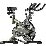 YHRJ Bicicletas estáticas de Control magnético silencioso Interior,Bici de Spinning Ajustable,Bicicleta de Ejercicio para Adelgazar,Puede soportar 150 kg (Color : Black, Size : 100 * 54 * 103cm)