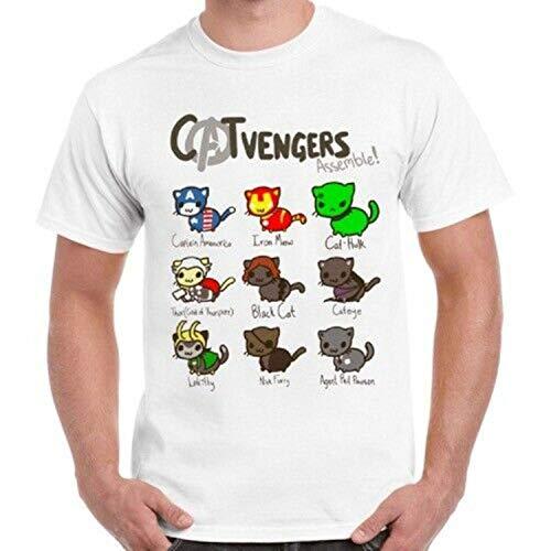 Catvengers Marvel Comic Cat Kitten Men Women Unisex Retro T Shirt,Men (Unisex),3XL
