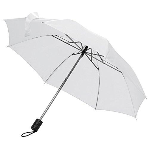 Taschenschirm Regenschirm - Farbe weiß - Durchmesser ca. 81 cm