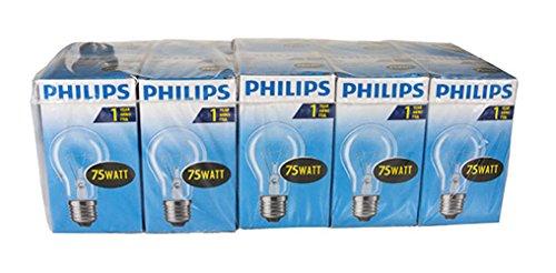 Preisvergleich Produktbild Philips Glühlampe Birnenform,  75 Watt,  E27,  klar,  10er