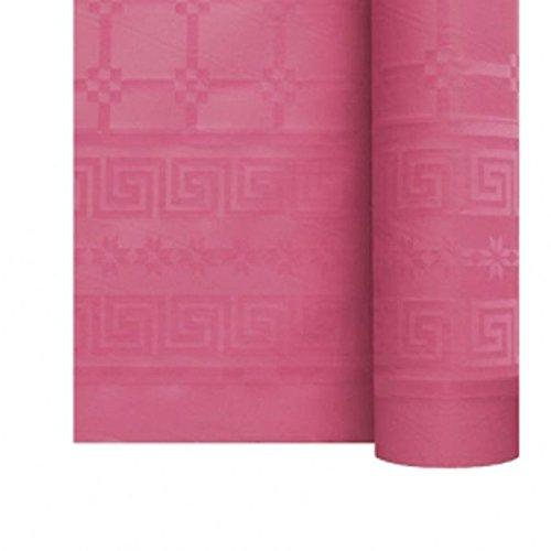 Générique Nappe Papier DAMASSÉ Rouleau 1.18X25M Framboise