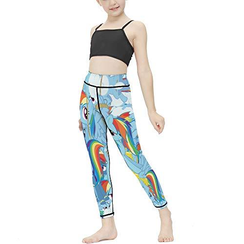 My Lit-tle Po-ny - Mallas para niña, diseño de polainas para niños, chic, pantalones largos delgados para deportes, yoga, hogar, 6-7 años