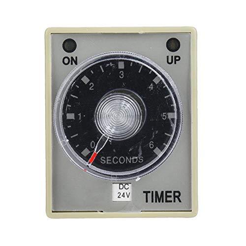 Relé de tiempo 6S Temporizador de 8 pines Método de riel DIN Interruptor de temporizador de retardo de retardo de liberación para equipos mecánicos(DC24V)