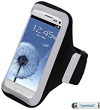 Sports Armband Case Pouch for HTC One M9, Desire 555, 650, 512, 530, 10, 626, 510, One M8, 601, One/ M7, One SV, EVO 4G LTE, One X, U11 Life, 520, 526, 626S, 612 - Black + MND Mini Stylus