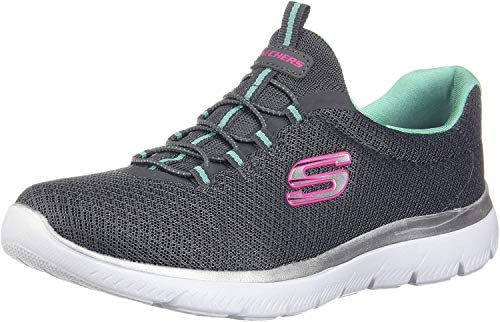 Skechers Women s Summits Sneaker Charcoal Green 7 5 M US product image