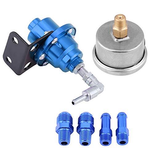 Regulador de presión de combustible ajustable, regulador de presión de aluminio universal ligero de alto rendimiento para piezas de automóvil(azul, 12)