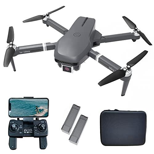 le-idea Drohne mit Kamera 4k GPS mit Brushless Motor, IDEA31 5GHz WiFi FPV Drone für Erwachsene Professional Drohnen mit Optische Flusspositionierung Quadcopter for Beginners Anfänger, 2 Batterien