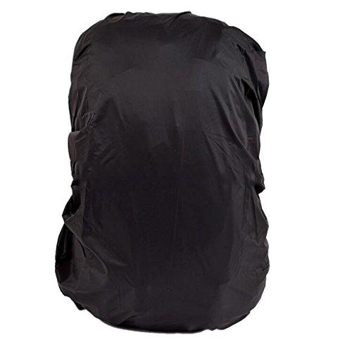 Wasserdicht Regenschutz für Rucksäcke Rucksackschutz Ranzen Regenschutz Rucksackcover Regenüberzug Sicherheitsüberzug Reflektorüberzug 30l-40l - Schwarz