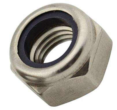DewTec 10 STK M6 Sicherungsmuttern, selbstsichernd DIN 985 / ISO 10511 - Edelstahl A2 (V2A)