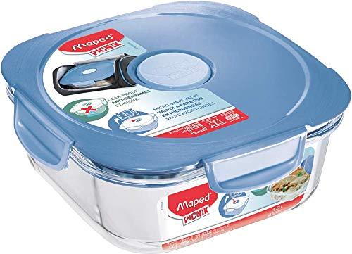 Maped Picnik Brotdose und Auflaufform für Erwachsene, Glas, Blau