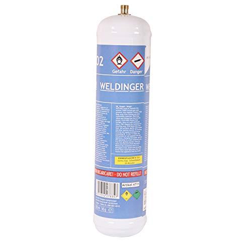 WELDINGER Sauerstoff Einwegflasche M12x1re 110bar
