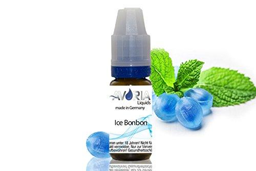 ORIGINAL AVORIA E-LIQUID FÜR DIE E-ZIGARETTE 10ml - ohne Nikotin (10ml - Ice Bonbon)