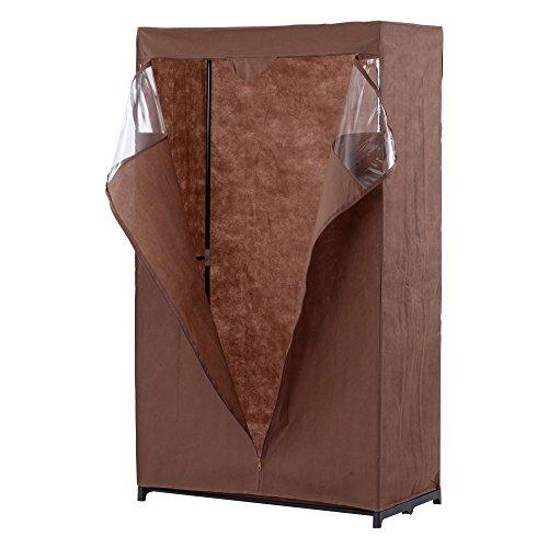 ハンガーラック カバー付き 収納ボックス ワードローブ 衣類収納 ラック 〔幅88cm〕