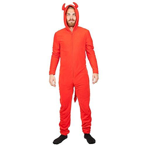 Mens Red Devil Long Sleeve Union Suit Sleep Wear-S