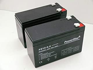 PowerStar-9AH Replacement for BATTERY,12V,7AH,RAZOR SCOOTER,MX35,M400,POCKET MOD, 2EA