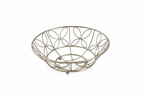 Galileo Casa 2415573 fruitschaal, roestvrij staal gesatineerd, zilver