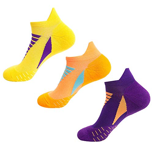 Mens Professional Running Socks Tennis, 3 Pairs Performance【Thick Terry Cushioned...