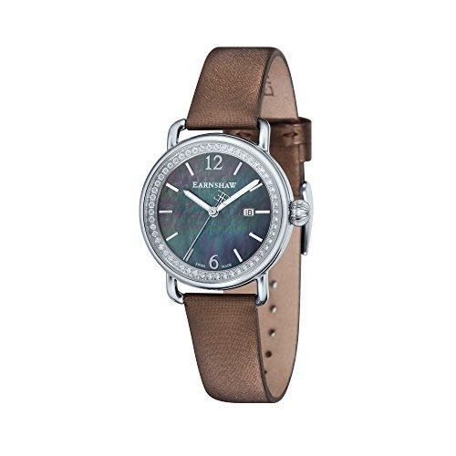 Thomas Earnshaw dames analoog kwarts smartwatch polshorloge met lederen armband ES-0022-03
