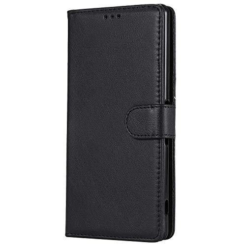 Bear Village® Hülle für Sony Xperia XA Ultra, Flip Leder Handyhülle Tasche mit Kartensfach, TPU Innere Ledertasche, 360 Grad Voll Schutz, Schwarz
