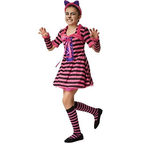 dressforfun 900532 Costume da Bambina Galante Stregatto, Abito Attillato con Maniche Corte (152  Nr. 302465)