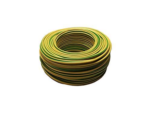 10m Erdungskabel 4mm² - Grün/Gelb - H07V-K - Aderleitung feindrähtig flexibel (10m)