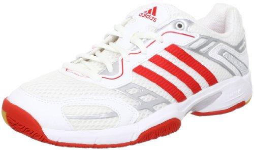 adidas Opticourt Team Light W G60632, Damen Handballschuhe, Mehrfarbig (Running White Ftw / Core Energy S12 / Metallic Silver), EU 39 1/3 (UK 6)