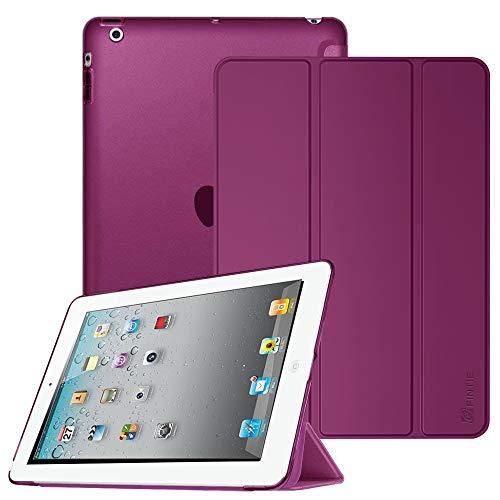 Fintie Hülle für iPad 4 iPad 3 iPad 2 - Ultradünne Superleicht Schutzhülle mit transparenter Rückseite Abdeckung Cover mit Auto Sleep/Wake für 9.7 iPad 2, iPad 3, iPad 4, Lila