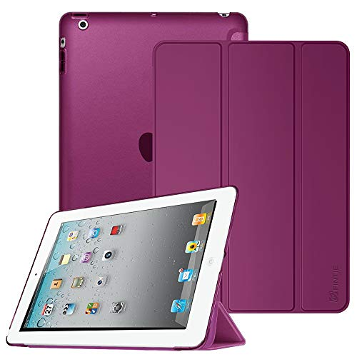 FINTIE Case for iPad 2 3 4 (Old Model) - Lightweight Smart Slim Shell Translucent Frosted Back Cover Auto Wake/Sleep for iPad 4th Generation with Retina Display, iPad 3 & iPad 2, Purple