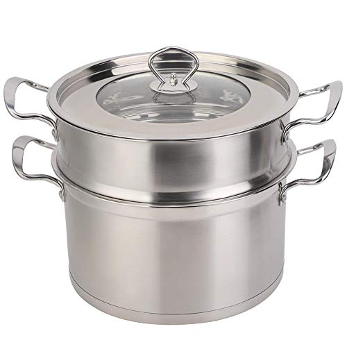 TOPINCN Olla Buque Puede 26 Cm Acero Inoxidable Doble Capa Food Steamer...