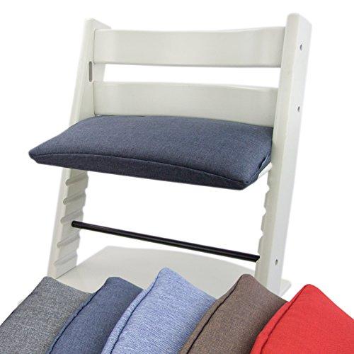 BAMBINIWERLT reserveovertrek, kussen voor hoge stoel/kinderstoel Stokke Tripp Trap, zitverkleiner 1-delig (donkerblauw) XX