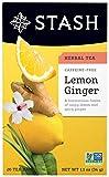 Stash Tea Lemon Ginger Herbal Tea, Box of 20 Tea Bags