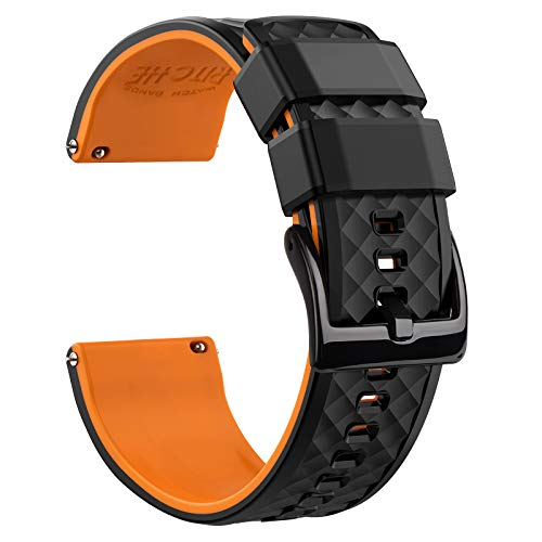 20mm Silicone Watch Bands Compatible with Samsung Gear S2 Classic Watch Quick Release Rubber Watch Bands for Men