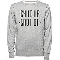 Rundi Shut Up Hombre Mujer Unisexo Sudadera Jersey Gris Tamaño M - Women's Men's Unisex Sweatshirt Jumper Grey