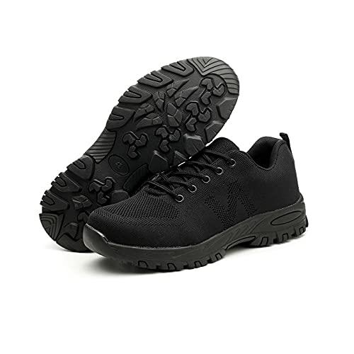 LLKK Calzado de protección,Zapatos Deportivos,Zapatos de Seguridad,Zapatos de Hombre,Calzado de Seguridad Ligero y Transpirable con Puntera de Acero,Anti-Rotura y Anti-Piercing